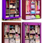 2 in1 Foldable wardrobe with 6 shelves and 1 hanging