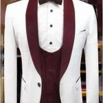 White and Wine Men's Suit