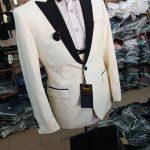 White Suit Black Lapel