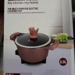 Electric Mini Cooking Pot Granite Coating