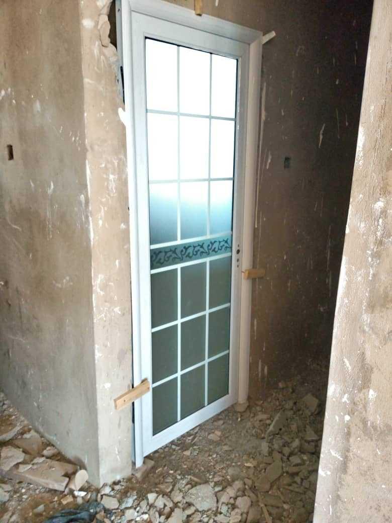 bathroom glass door in ghana