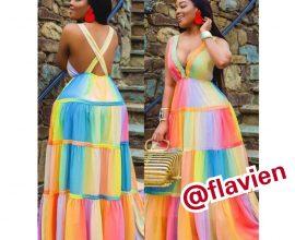 rainbow dress in ghana