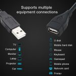 USB 2.0 Male To Female USB Cable Extender cord 1.5m