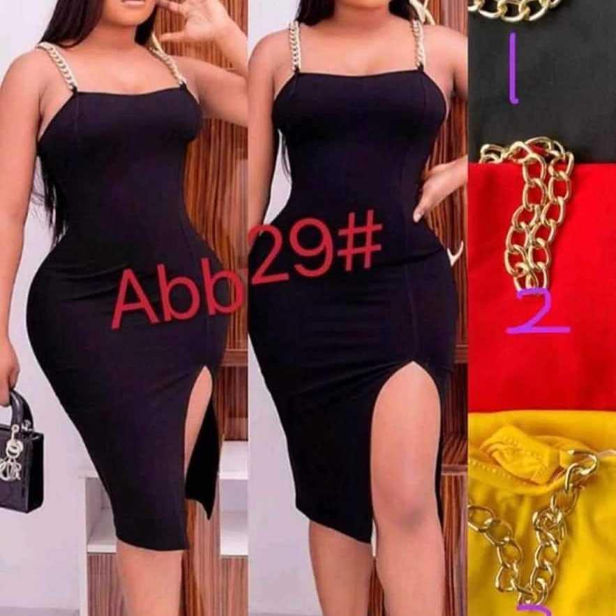 black bodycon dress in Ghana