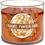 3 Wick Scented Caramel Pumpkin Candle Bath Body