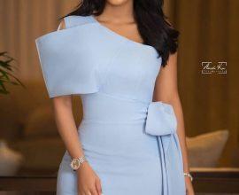 light blue dinner dress
