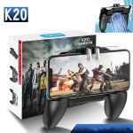 K20 PUBG Mobile Gamepad with Fan Joystick L1 R1 Trigger Game Shooter