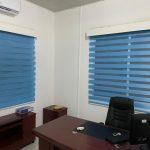 Sea Blue Window Curtain Blinds