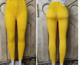 yellow ladies jeans