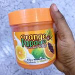 Orange Papaya Shower Scrub Extra Whitening