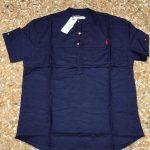Dark Blue Mens Linen Shirt
