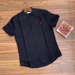 Black Mens Linen Shirt
