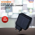 Riversong Power KUB QC Dual Port Wall Charger