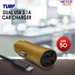 TURF USB 3.1A Car Charger