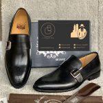 Mens Buckle Shoe (Black)