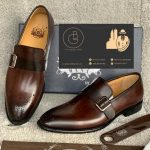 Brown Mens Buckle Shoes