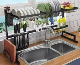 over the sink dish rack