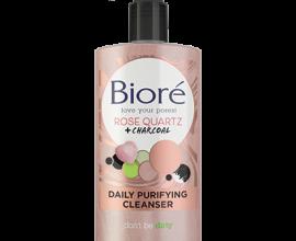 biore rose quartz and charcoal