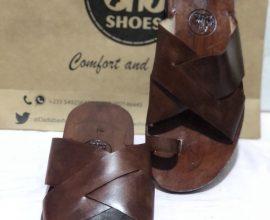 brown slippers in ghana