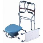 3 in 1 Multi-function Walker with Shower Seat and Commode