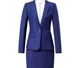 navy blue skirt suit