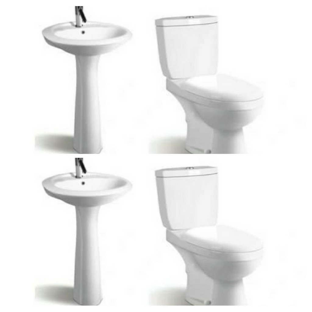 Tub,Water Closet and Basin