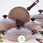 Falez  Creamy Granite Sauce Pan Set