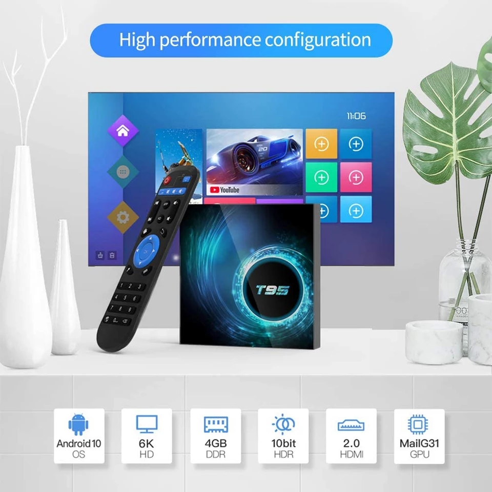 Android TV Box (6k Uhd) Android 10.0