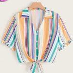 Multicoloured Ladies Top