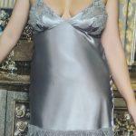 Grey Ladies Night Gown
