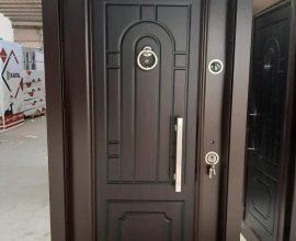 single metal door