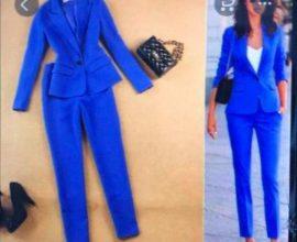 royal blue ladies suit
