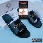 Black Versace Mens Slippers