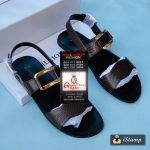 Black Mens Leather Sandals