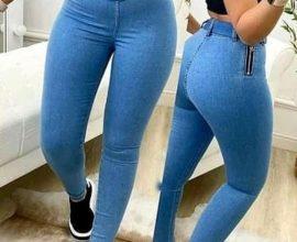ladies light blue jeans