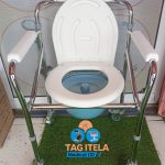 Adjustable Foldable Toilet Commode Seat/Chair ( With Wheels )