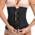 Waist Trainer With Zipper And Hooks