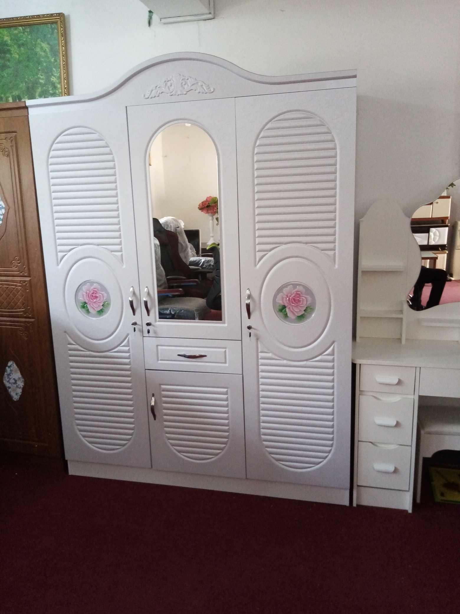 white wardrobe with mirror