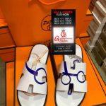 White Hermes Slippers
