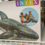 Inflatable swimming boat.